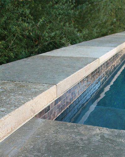 Bordeaux Gris Limestone Pool Coping