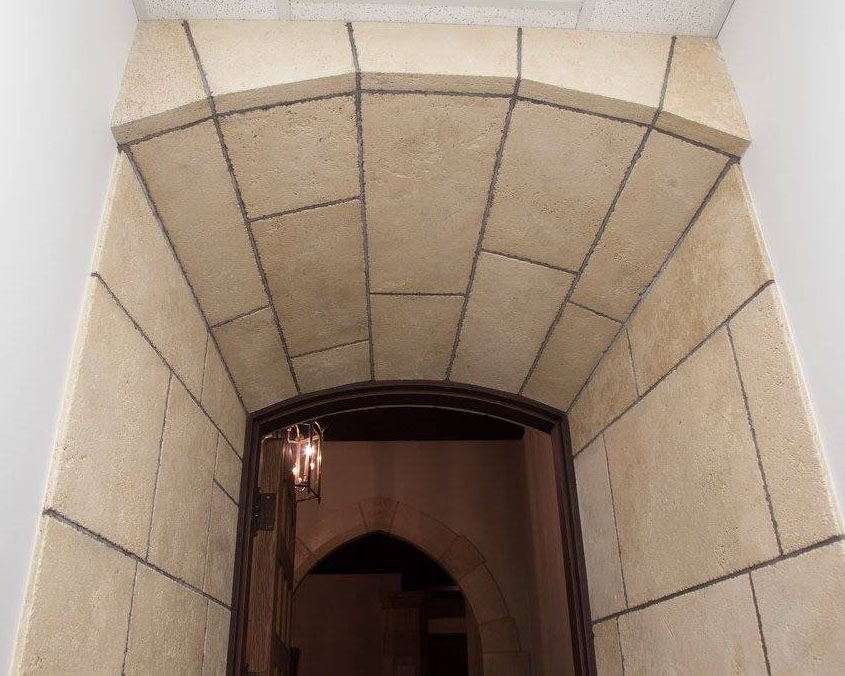 Architectural stone archway